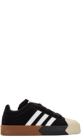 adidas Originals by Alexander Wang - Black Suede Skate Super Sneakers