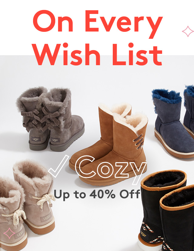 On Every Wish List | Cozy | Up to 40% Off