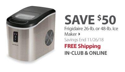 Frigidaire 26-lb. or 48-lb. Ice Maker