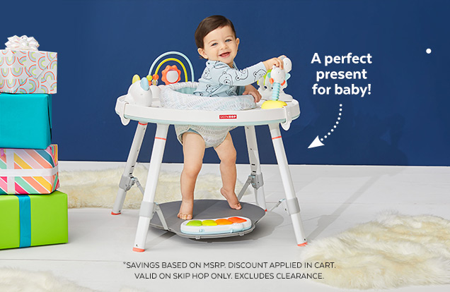 A perfect present for baby!   *Savings based on MSRP   Discount applied in cart   Valid on Skip Hop only   Excludes clearance