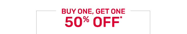 Buy one get one fifty percent off ornaments. Buy one get one fifty percent off wreaths and garlands.