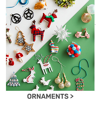 Buy one get one fifty percent off ornaments.
