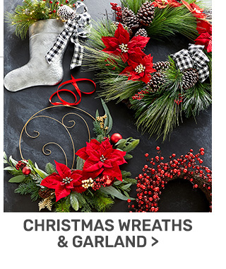 Buy one get one fifty percent off wreaths and garlands.