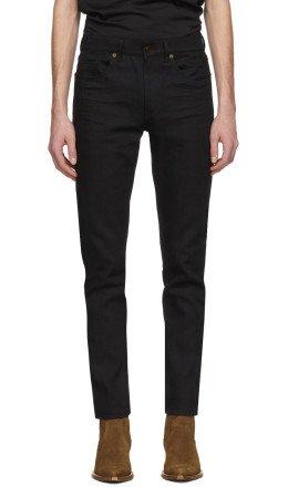 Saint Laurent - Black Cropped Skinny Jeans