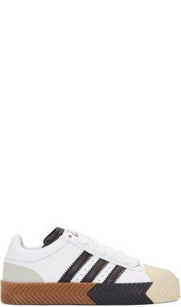 adidas Originals by Alexander Wang - White & Black Skate Super Sneakers