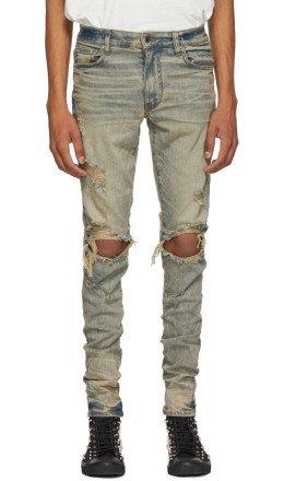 Amiri - Indigo Thrasher Jeans