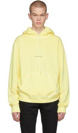 Saint Laurent - Yellow Rive Gauche Logo Hoodie