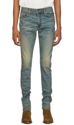Amiri - Indigo Stack Jeans