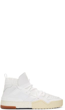 adidas Originals by Alexander Wang - White BBall High-Top Sneakers
