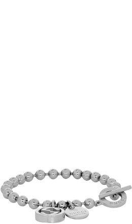 Gucci - Silver Charm Ball Chain Bracelet