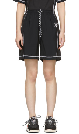 adidas Originals by Alexander Wang - Black Logo Shorts