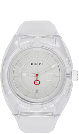 Gucci - White Transparent G-Sync Watch