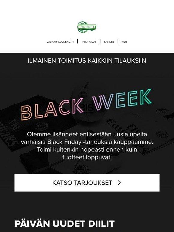 unisportstore.fi  Kuinka kauan voit vielä odottaa  Uudet Black Wednesday  -tarjoukset 🔥  3145aca2a8