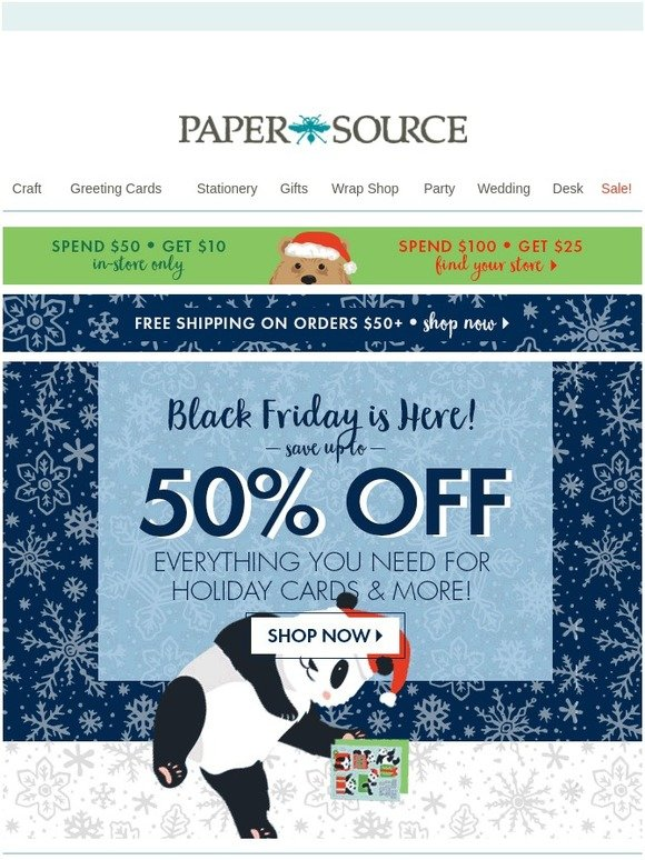 Paper Source Surprise Black Friday Deals Are Here Milled