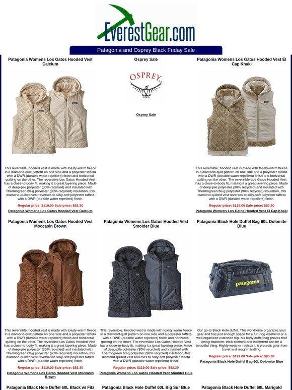 c3d78d35 EverestGear.com: Patagonia and Osprey Black Friday Sale | Milled