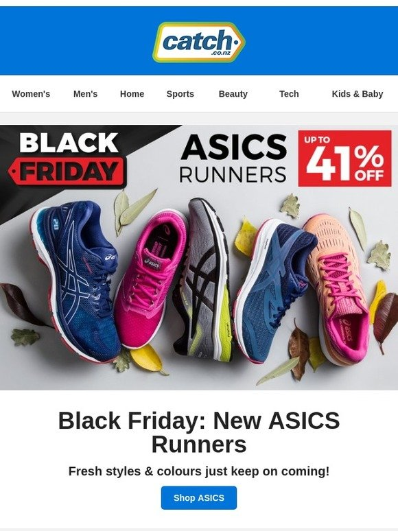 Simpático Injusto Mentor  Catch Of The Day NZ: Black Friday Early Access: ASICS Up To 41 ...