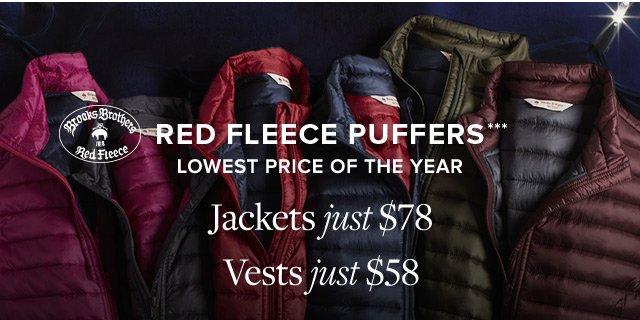 RED FLEECE PUFFERS