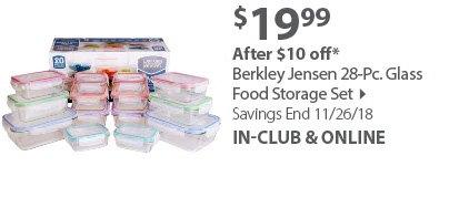 Berkley Jensen 28-Pc. Glass Food Storage Set