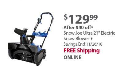 Snow Joe Ultra 21 Electric Snow Blower