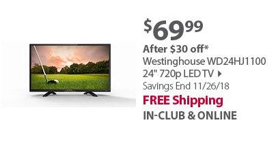 Westinghouse WD24HJ1100 24 720p LED TV