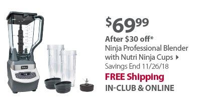 Ninja Professional Blender with Nutri Ninja Cups