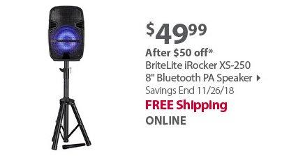 BriteLite iRocker XS-250 8 Bluetooth PA Speaker