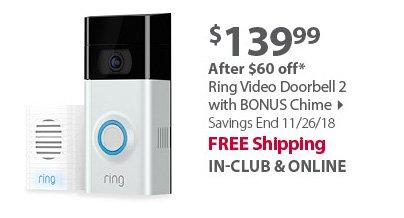 Ring Video Doorbell 2 with BONUS Chime
