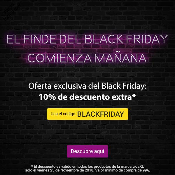 Vidaxl Friday MañanaMilled Black Empieza es¡el PZXuki