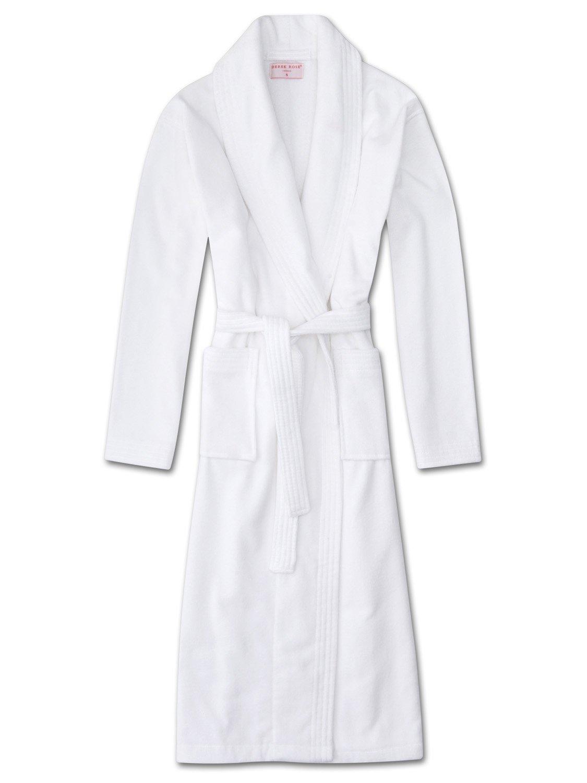 e467a3dc51 Women s Towelling Gown Triton 10 Cotton Velour White