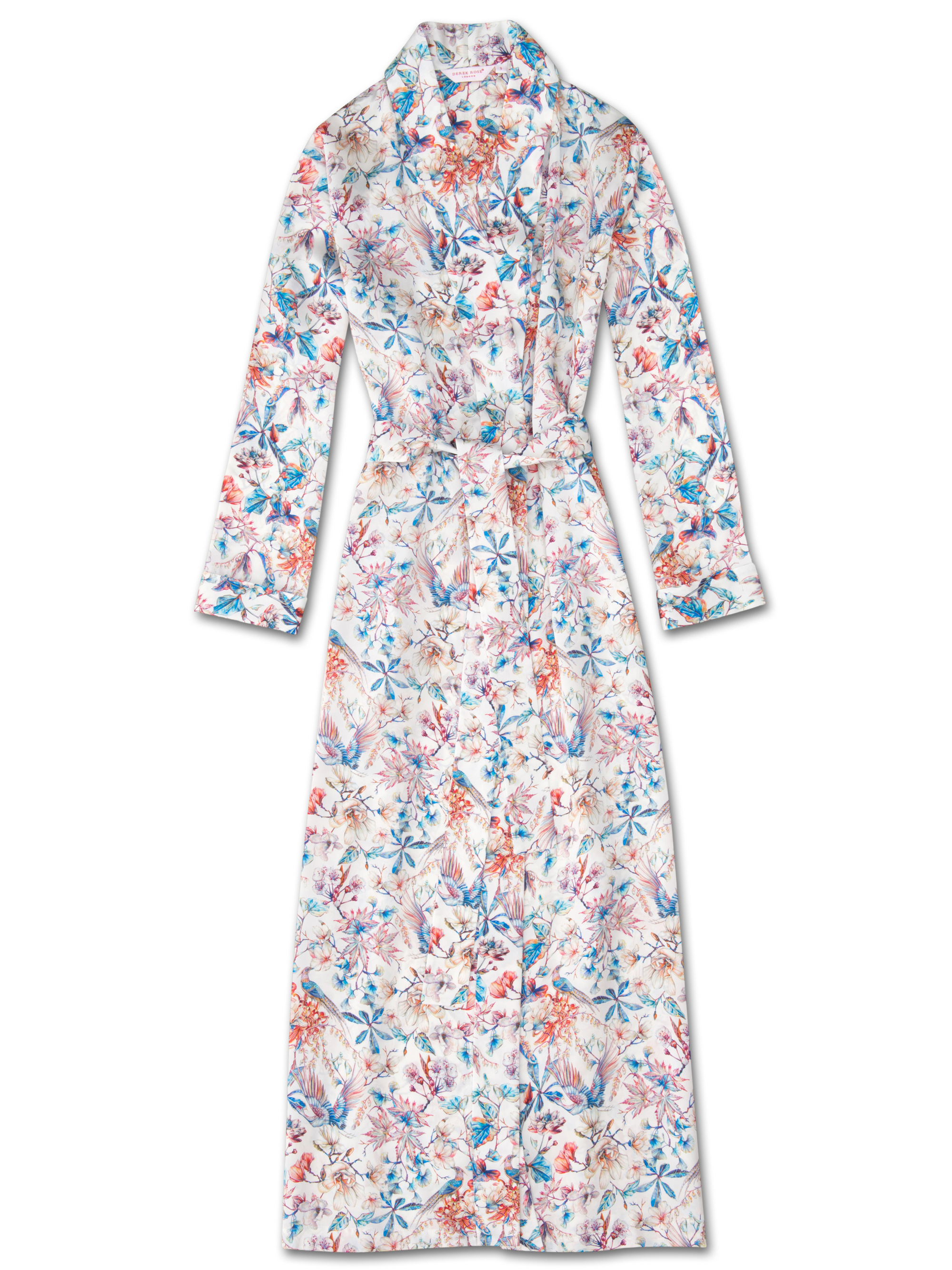 0dc01504a3 Women s Full Length Dressing Gown Brindisi 29 Pure Silk Satin Multi