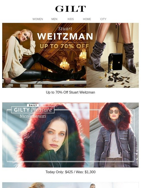 5d8d4059f5f Gilt  Up to 70% Off NEW Stuart Weitzman
