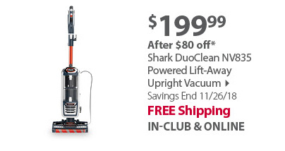 Shark DuoClean NV835 Powered Lift-Away Upright Vacuum
