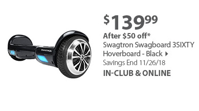 Swagtron Swagboard 3SIXTY Hoverboard - Black