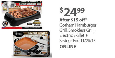 Gotham Hamburger Grill, Smokless Grill, Electric Skillet