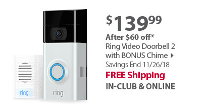 Ring Video Doorbell 2 with BONUS Chime
