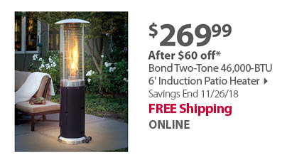 Bond Two-Tone 46,000-BTU 6' Induction Patio Heater