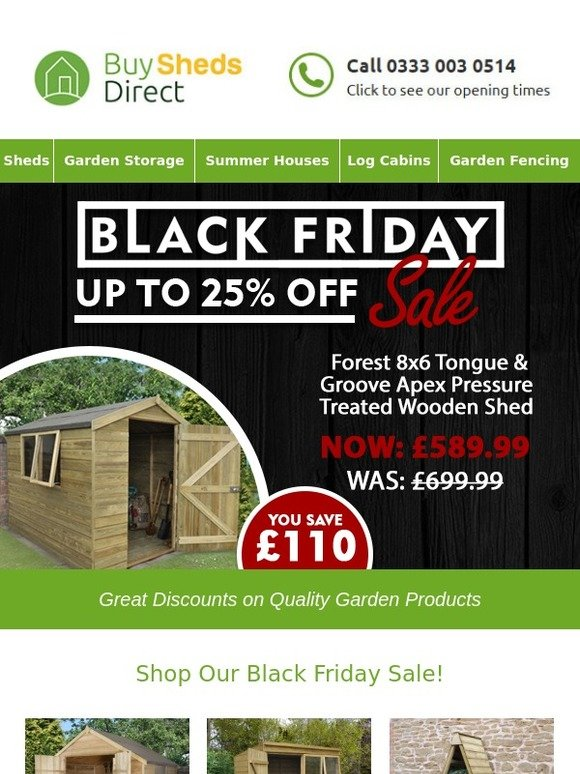 Buy Sheds Direct Black Friday Shop Our Sale For Up To 25 Off Milled