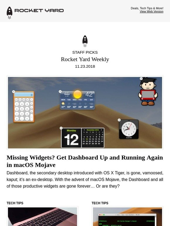Mac Sales   Other World Computing: Get Dashboard Back, Is