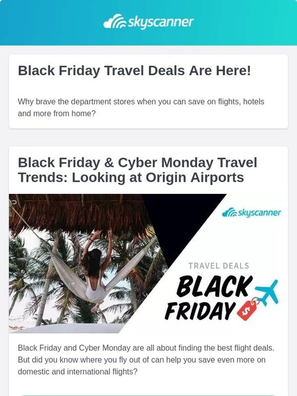 Skyscanner Nl Black Friday Travel Deals Are Here Milled