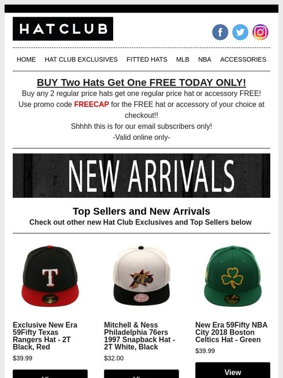 info for 3d797 f5d71 Hat Club  A FREE HAT  TODAY ONLY😛   Milled
