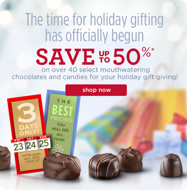 Russell Stover Candies Black Friday Starts Now 50 Off On Over 40 Select Chocolates Milled
