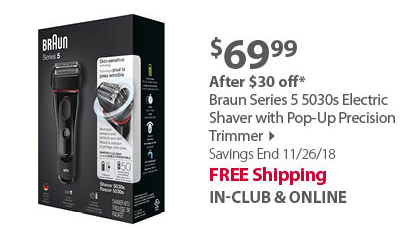 Braun Series 5 5030s Electric Shaver with Pop-Up Precision Trimmer