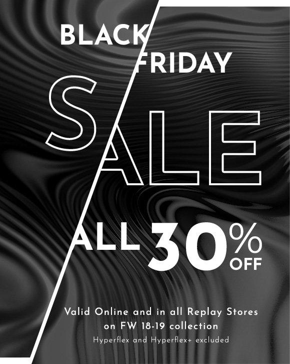 pensieri su scarpe da ginnastica a buon mercato negozio Replay: Black Friday Is Here! 30% Off Our FW 18-19 ...