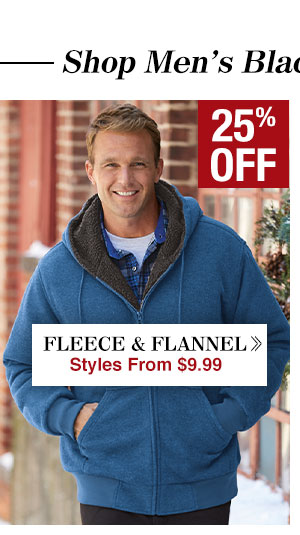 Shop Men's Fleece & Flannel!