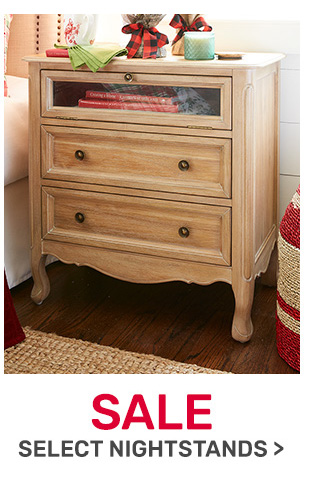 Select nightstands on sale.