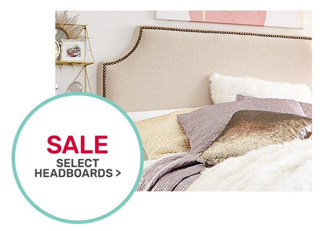 Select headboards on sale.