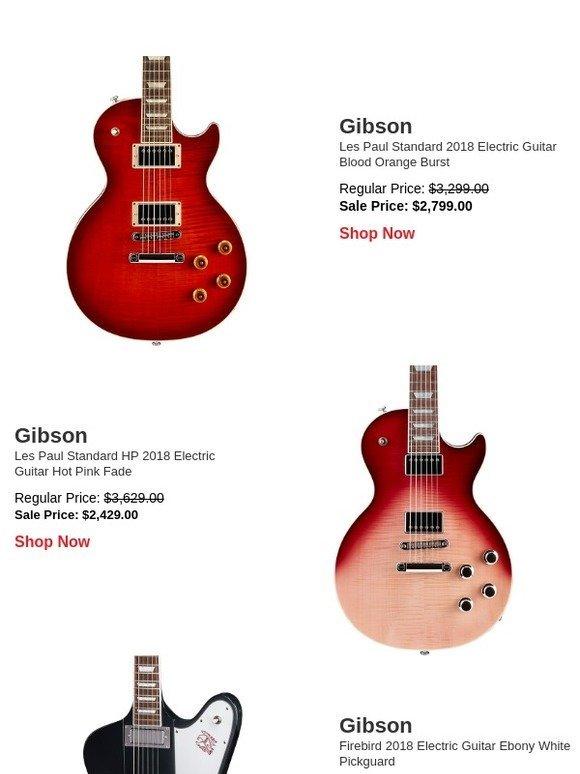 Guitar Center: Massive Gibson 2018 markdowns, plus Black