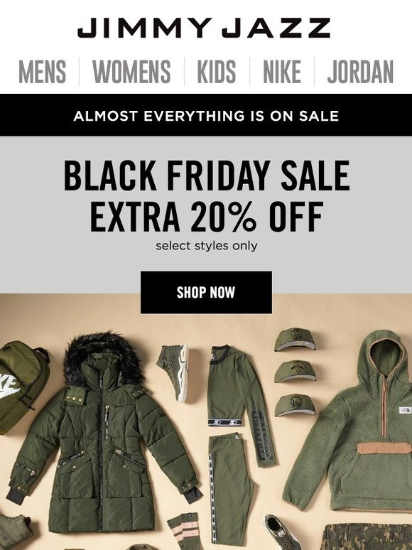 Jimmy Jazz  Best Friday Ever! Extra Savings For Black Friday  be886ca9b4