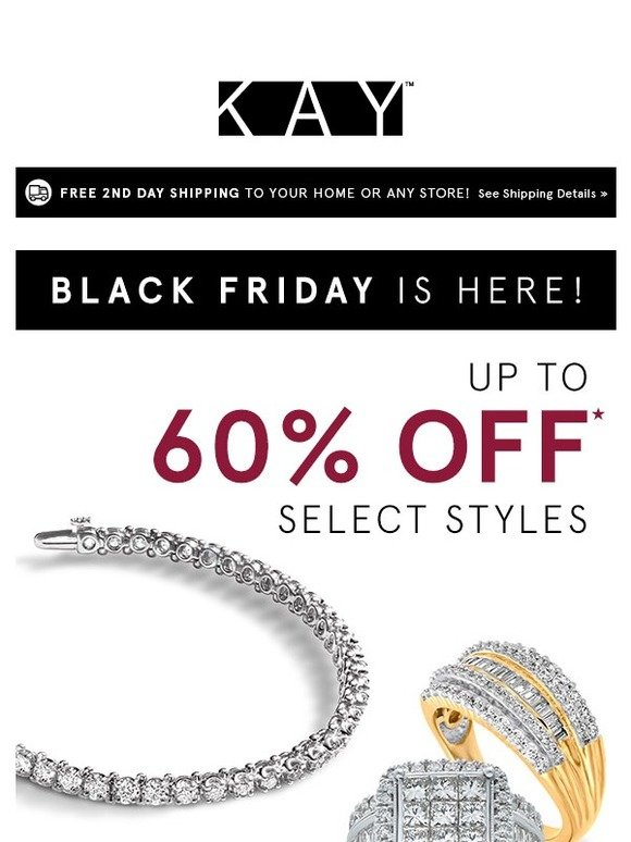 Kay Jewelers Save Up To 60 On Select Styles 20 On Everything Else Milled