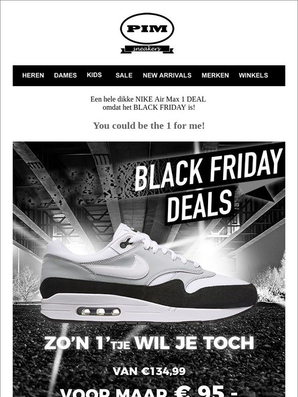 Pimsneakers.nl: Black Friday Love met de Nike Air Max 1 ...